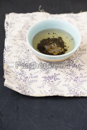 bowl of earl grey tea mixed