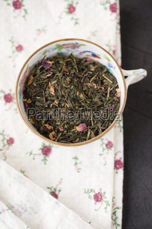 tea cup of chinese green tea