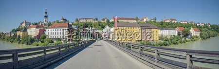 germany bavaria burghausen old town with