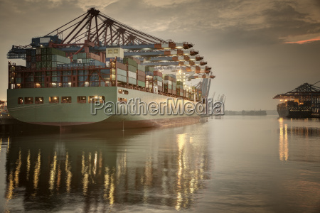 germany hamburg container terminal container ship