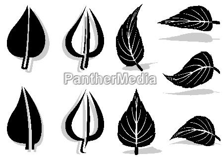 leaf symbol set
