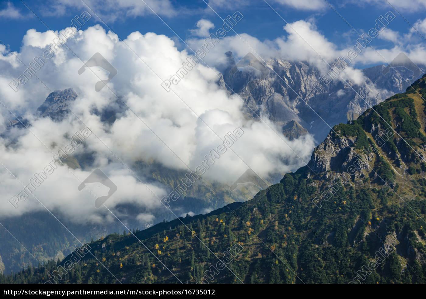 germany, , bavaria, , allgaeu, , mountain, crest, of - 16735012