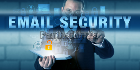 corporate director pressing email security