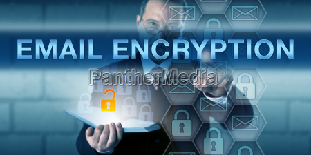 security director pushing email encryption