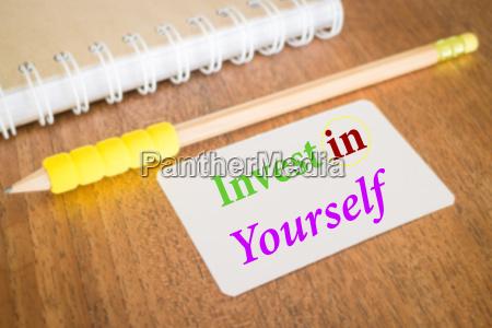 investieren sie in sich selbst inspirieren