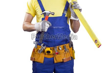 trabajador de la construccion con la