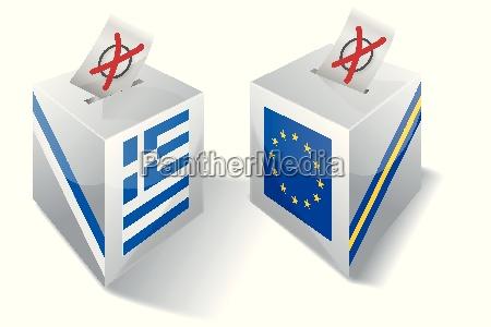 wahlbox mit europa und griechenland