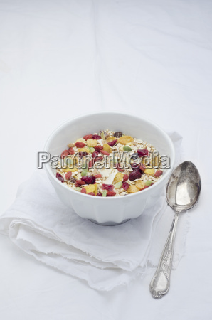 bowl of homemade muesli with cereals