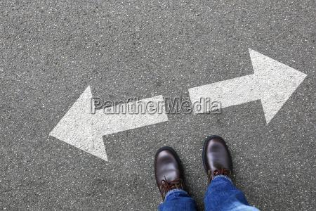 entscheidung entscheiden business konzept businessman ziele