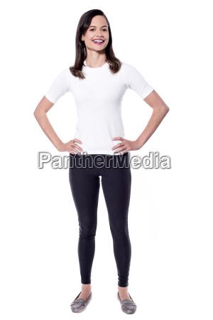 beautiful woman posing casually