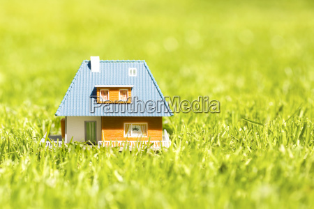 house scale model on green grass