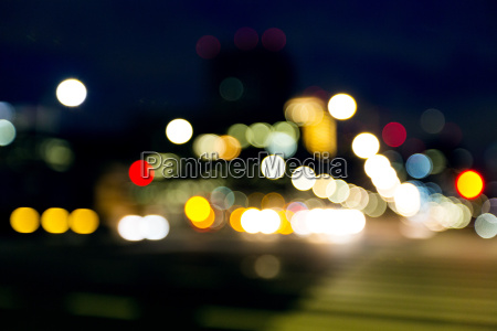 blur view of city night view