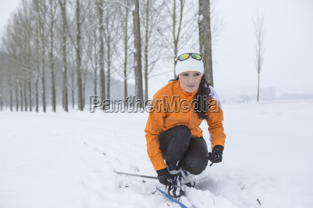 austria kufstein woman cross country skiing