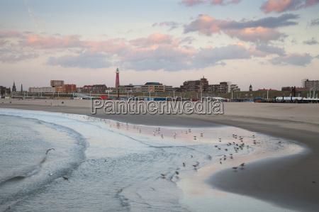 niederlande den haag scheveningen strand im