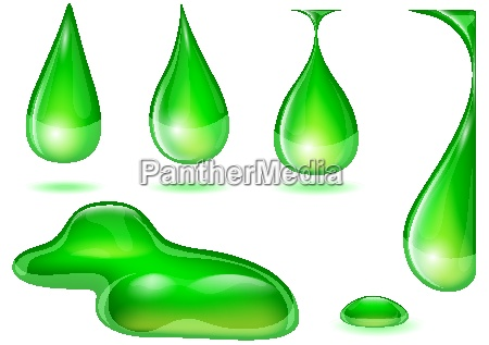 drops in green colors