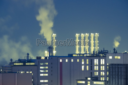 germany bavaria burghausen industrial area at