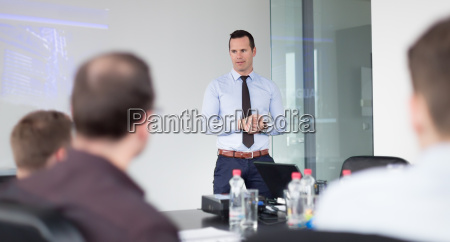 business praesentation auf corporate meeting