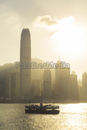 china hong kong skyline from the