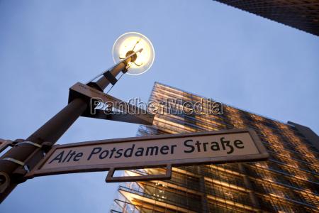 germany berlin street sign at potsdamer