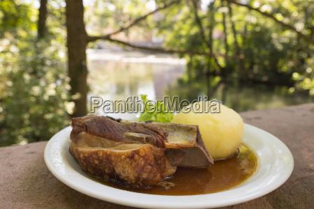 germany nuremberg traditional pork dish schaeufele