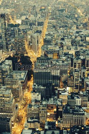 usa new york city ansicht von