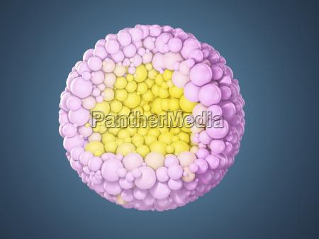 blossom built of balls 3d rendering