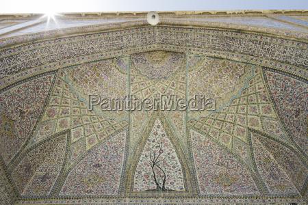 iran shiraz vakil mosque close up