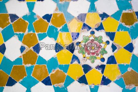 iran shiraz tile at vakil mosque