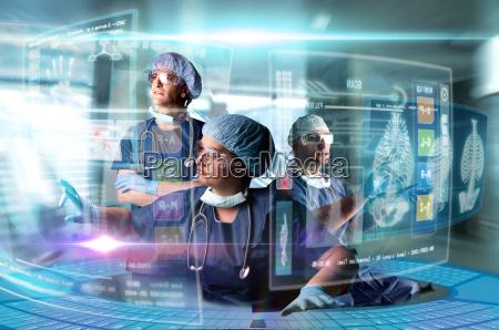 arzt krankenhaus medizin bildschirme computer pflege