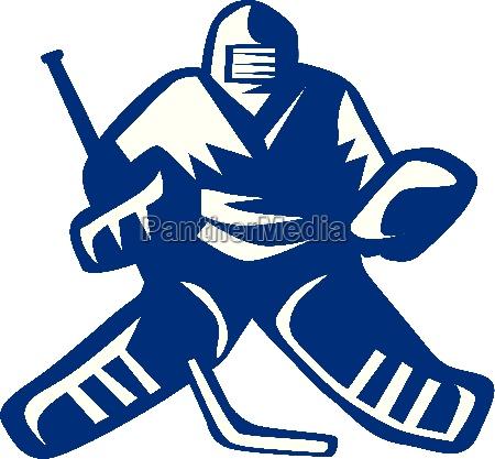 eishockey goalie retro