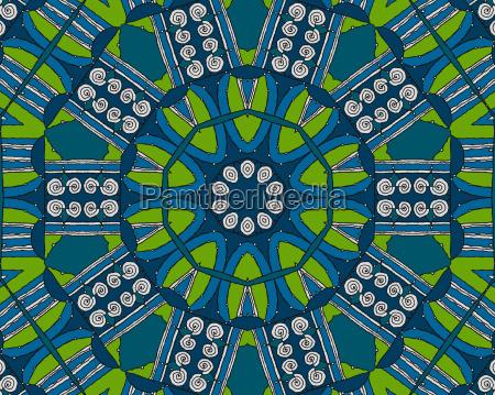 blau gruen gruenes gruener gruene verzierung