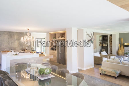 open floor plan in luxury home