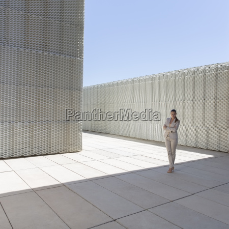businesswoman standing outdoors