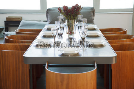 place settings on table in luxury