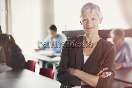 portrait of confident senior woman in