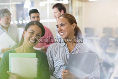 portrait confident women in adult education