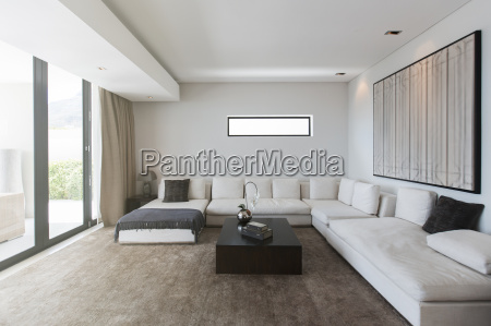 view of modern living room with