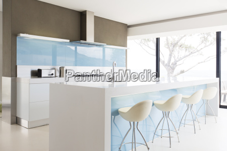 white and clean modern kitchen with