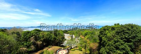 panorama erhoehte ansicht meer himmel und