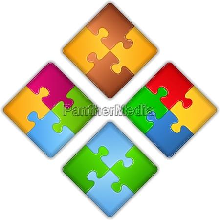 puzzle quadrate