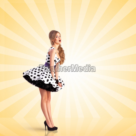 lady in dots