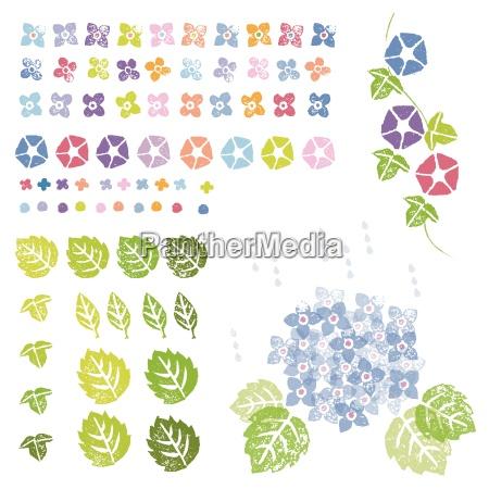blomster og blade grafiske elementer