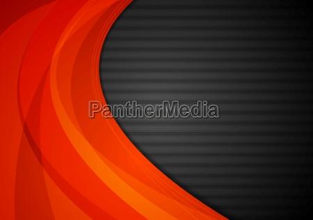 dunkel gestreifter hintergrund mit orangen wellen