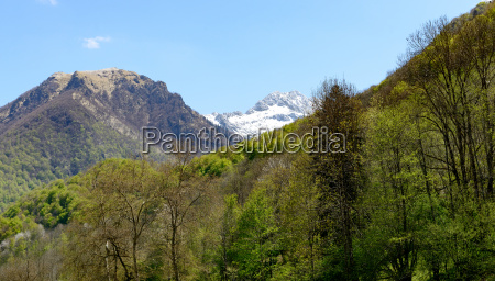 mountain landscape in the pyrenees france