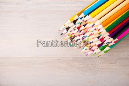 color pencils arrangement