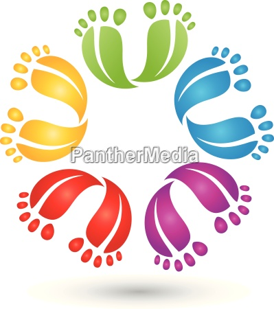 many feetcolorlogopedicure