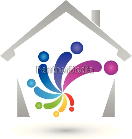 house and spiralpeoplecoloredpainterlogo
