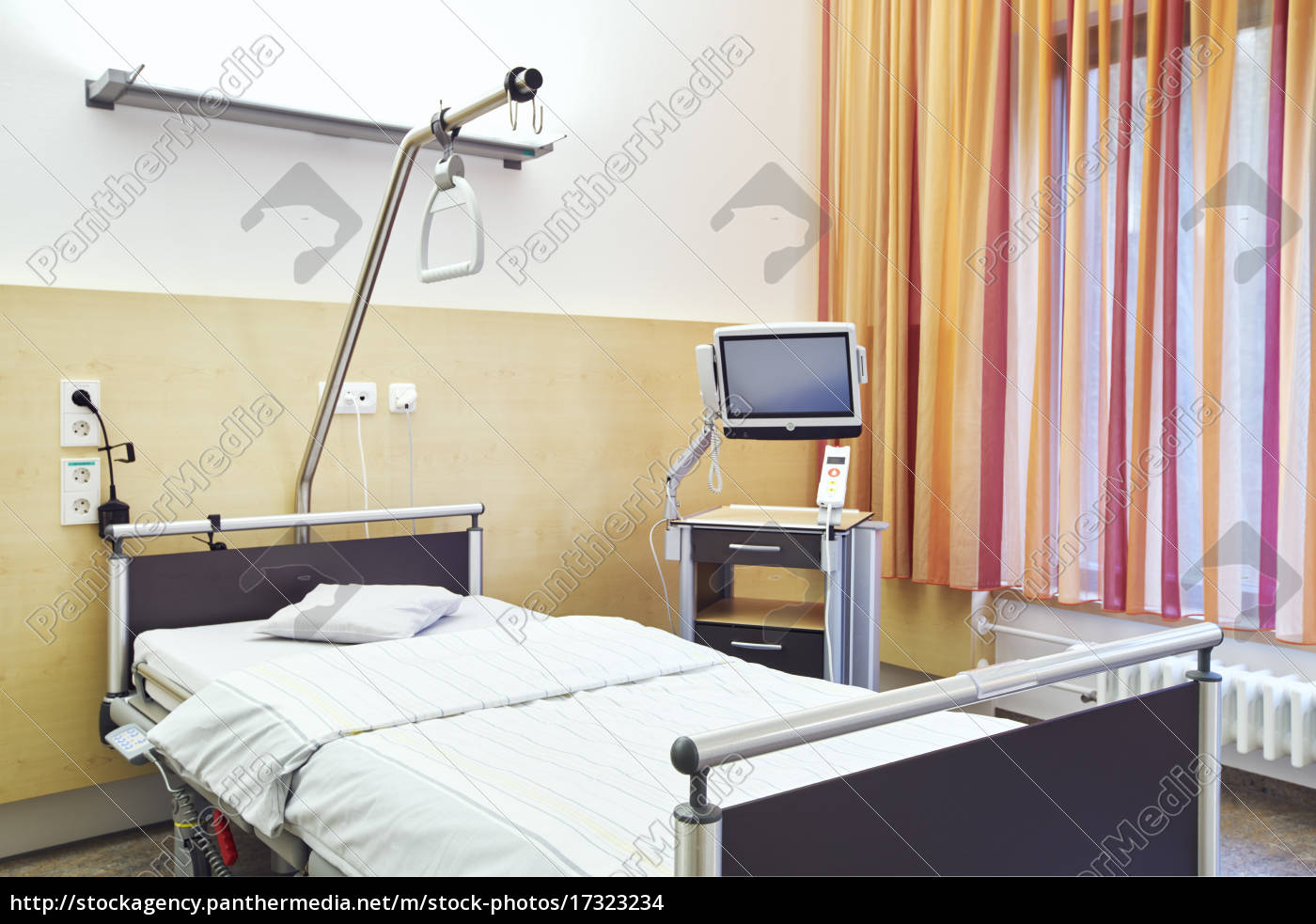 krankenhaus zimmer privat leer fernseher stock photo 17323234 bildagentur panthermedia. Black Bedroom Furniture Sets. Home Design Ideas
