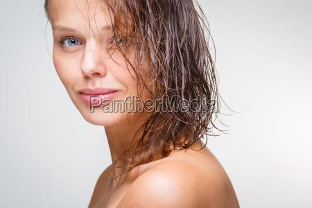beauty portrait of a beautiful female