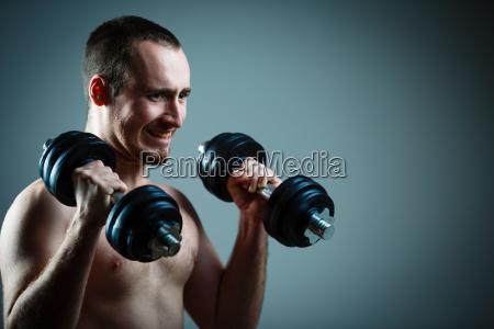 close up of young man lifting